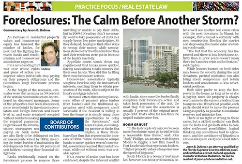 Foreclosures - The Calm Before Another Storm